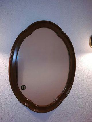 Espejo madera recibidor