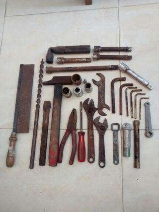 lote herramientas antiguas 6€