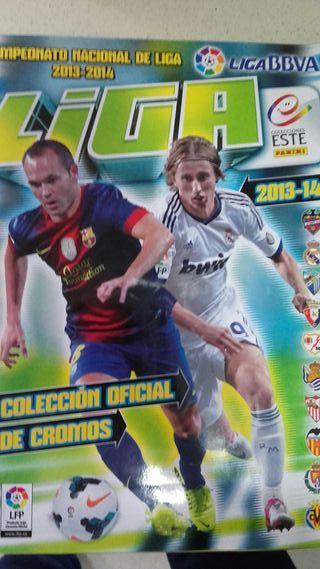 Álbum de cromos fútbol Liga 2013-14