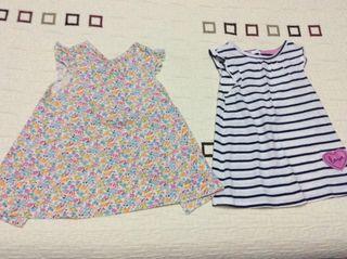 Dos vestidos 9-12 meses