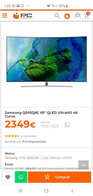 Tv Samsung qled 65 pulgadas