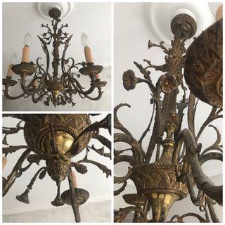 Oportunidad. Lámpara de araña de bronce