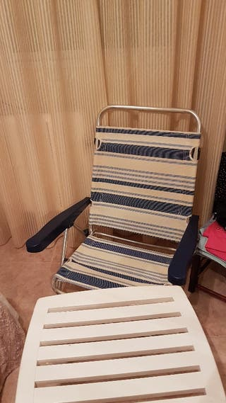 sillas de playa + mesa