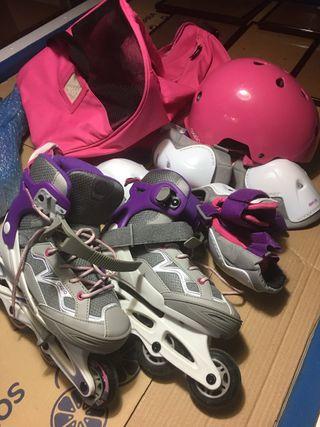 Juego de patinaje talla 34/35