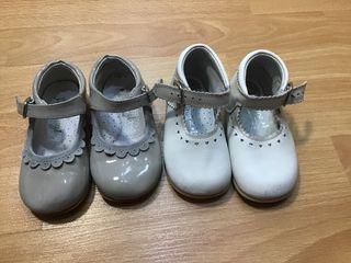 Dos pares zapatos niña número 22
