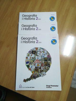 Libros Geografia i història 2 ESO