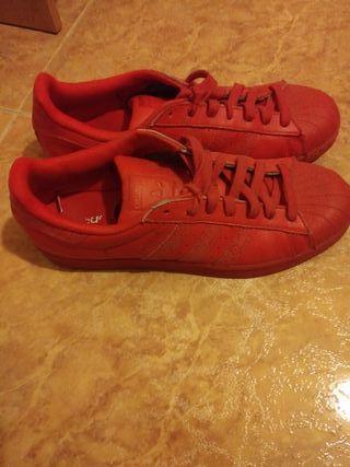 Zapatillas Adidas SuperStar Rojas Originales