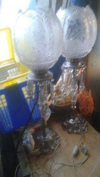 Lamparas de cristal y metal