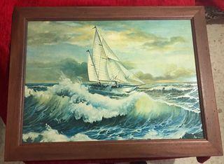Cuadro barco vela