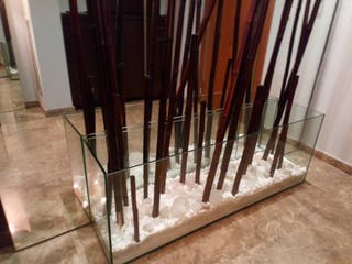 recibidor de cristal 140cm.