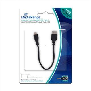 R9F | Mediarange - cable otg usb a microusb negro