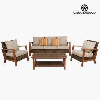 Muebles de jardín (4 pcs) Resina by Craftenwood