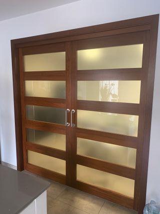 puertas correderas madera