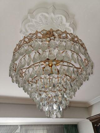 lámpara cristales lagrima