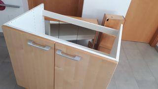 muebles de baño de ikea de madera