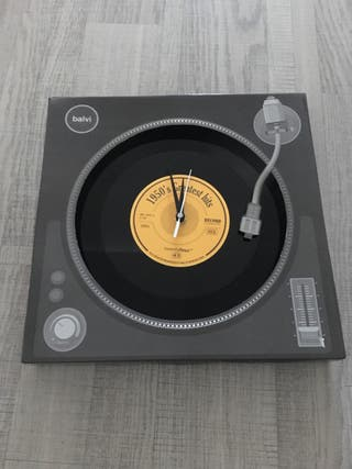 Reloj pared disco vinilo