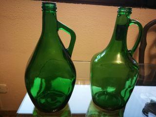 Pareja de botellones cristal, para lámparas