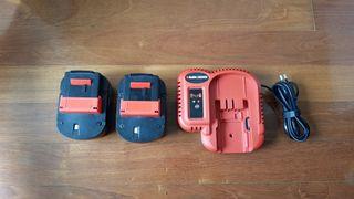 2 baterías A12 + Cargador Black & Decker