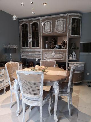 conjunto salón mesa y sillas + mueble