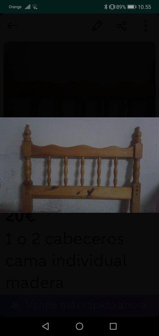 1 o 2 cabeceros cama individual