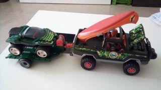 playmobil,coche,soldados,lote,remolque,4x4,safari