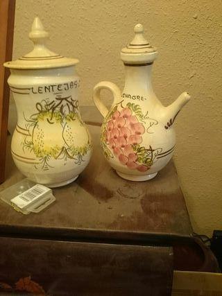 botes cocina de cerámica