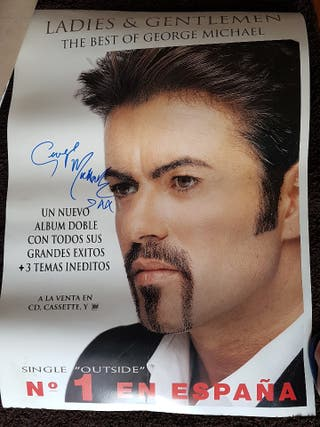 autografo original George Michael