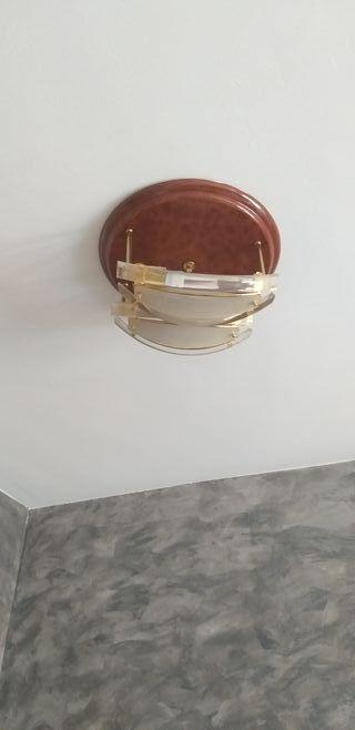 mueble de entrada y conjunto de lamparas