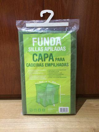 FUNDA SILLAS APILADAS 66x66x109 - NUEVA