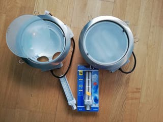 2 Downlight con bombillas de led