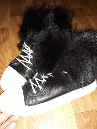 Zapatillas piel estilo Converse