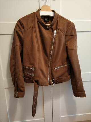 chaqueta Biker ante Zara