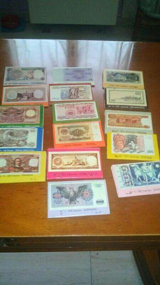 Lote 16 caja de cerillas edicion billetes