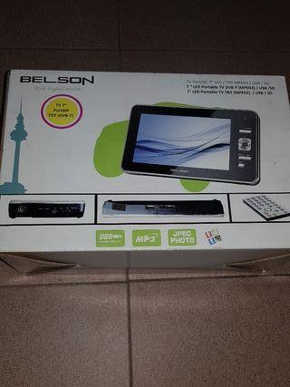 televisión portátil 7 pulgadas marca Belson nuevo