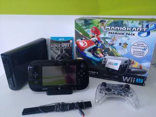 Wii U negra Premium pack+ mando pro+ juego