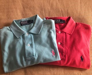 PACK Polo Polos Ralph Lauren Talla S azul y coral