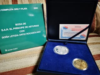 Moneda 200 y 10 euros, boda real 2004