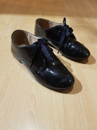Zapatos piel Bass blucher niña talla 30