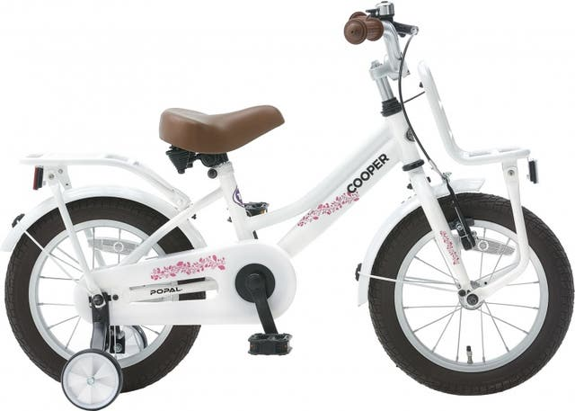 Bicicleta infantil Popal Cooper blanco 14 pulgadas