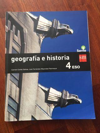 libro de geografía e historia 4º ESO SM