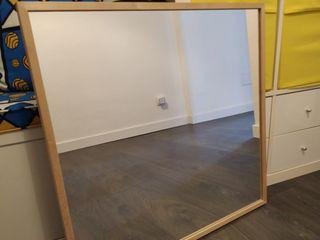 Conjunto baño Ikea, espejo, balda, colgadores