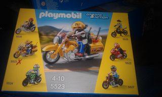 Moto amarilla 5523 playmobil