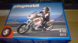 Moto gris 5117 playmobil