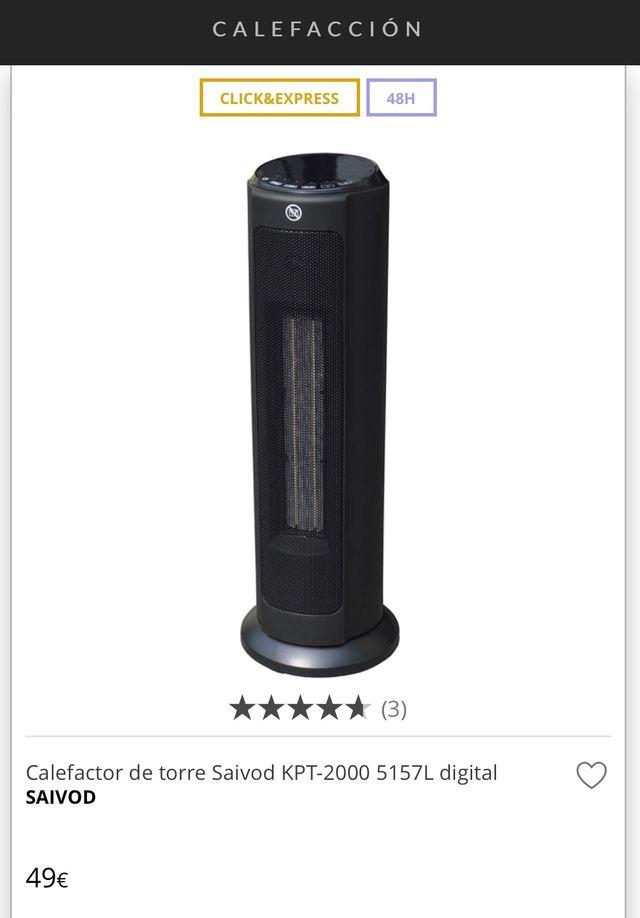 Calefactor de torre Saivod