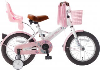 Bicicleta infantil Popal Little Miss blanco 14""