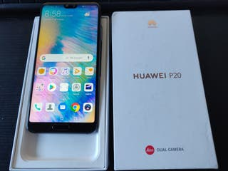 Huawei P20 4gb 128gb azul caja y accesorios