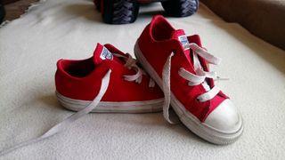 Zapatillas converse rojas 25