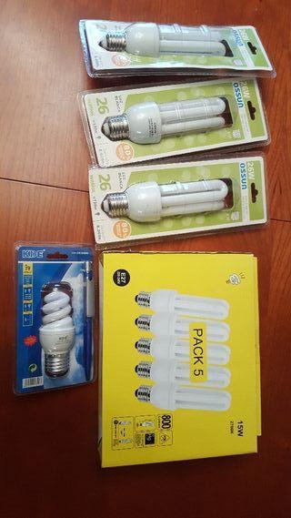 Lote 9 bombillas bajo consumo NUEVAS