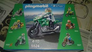 Moto verde 5524 playmobil