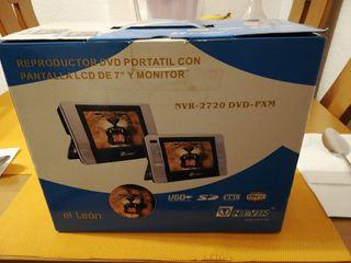 Reproductor DVD Nevir doble, para coche o portáti.